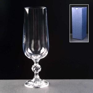 Claudia Champagne Glass In Blue Cardboard Box