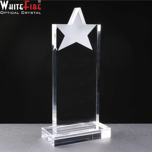 Whitefire Star Tablet Crystal Awards Supplied In A Velvet Lined Presentation Case. Price Includes Engraving.