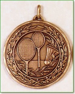 50mm Badminton Medals