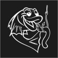 Fish With Worm Logo 1