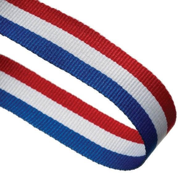 Red/White/Blue Woven Medal Ribbons With Clip