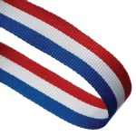 Red/White/Blue Woven Medal Ribbons With Clip 1
