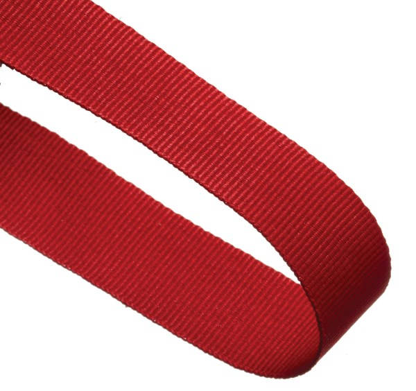Red Woven Medal Ribbons With Clip