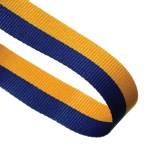 Blue / Yellow Woven Medal Ribbons With Clip 1