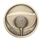 70mm Longest Drive Golf Medals 1