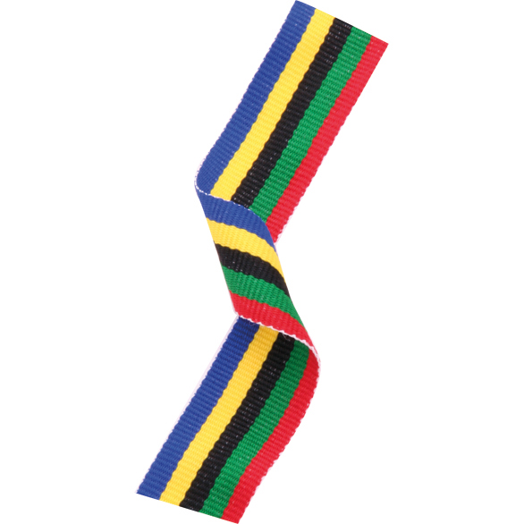 Olympic Woven Medal Ribbons With Clip