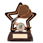 Resin Tennis Trophies In Antique Gold And Black Coloured Finish 1