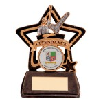 Resin School Trophies For Attendance