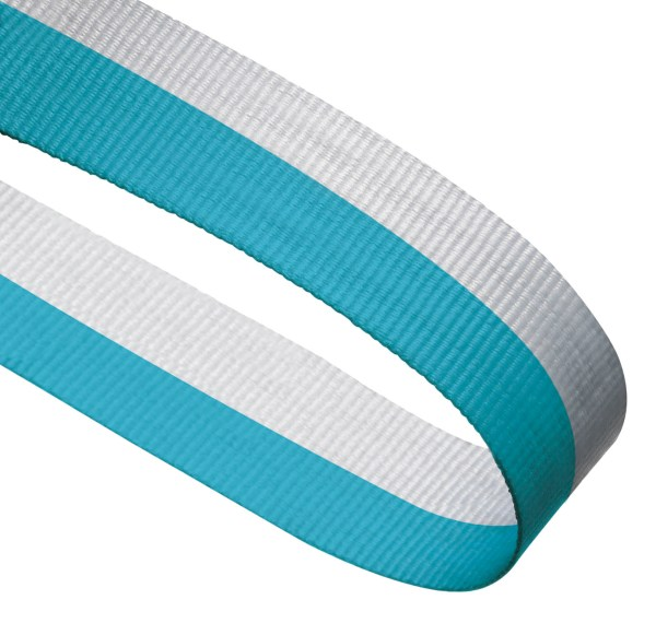 Light Blue / White Woven Medal Ribbons With Clip