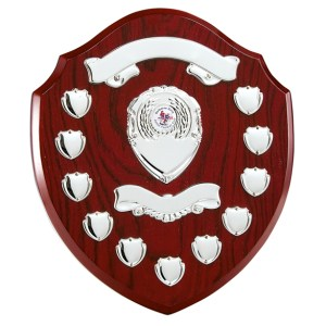 Wooden Annual Shields With Silver Trims