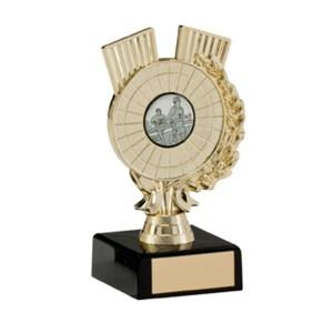 Gold Centre Holder Trophies On Black Marblet Base