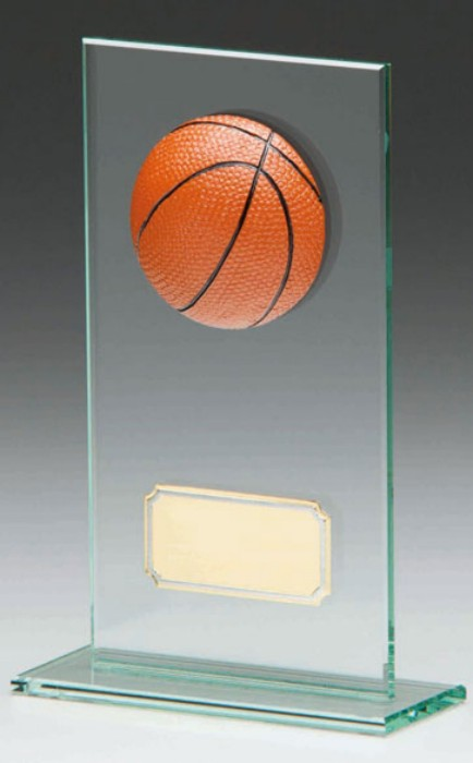 Glass Basketball Trophies