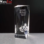 Whitefire Tain Column Crystal Awards Supplied In A Velvet Lined Presentation Case. Price Includes Engraving
