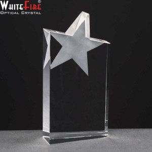 Whitefire Column Wedge Star Crystal Awards Supplied In A Velvet Lined Presentation Case. Price Includes Engraving.