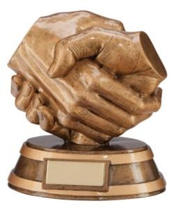 Resin Handshake Trophies