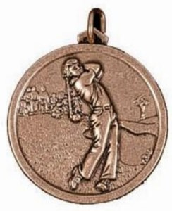 Male Golfer Medal