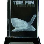 Nearest The Pin Golf Trophies With 3D Lasered Golf Club On Black Marble Base