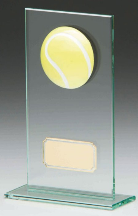 Glass Tennis Trophies