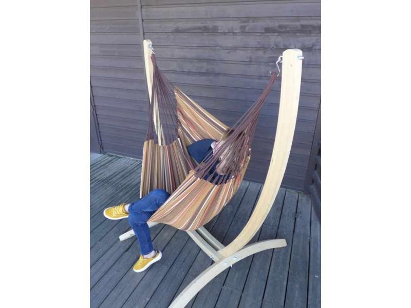 chaise hamac avec support en bois