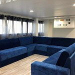 Yacht Avalon III living room cabin Cuba