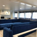 Yacht Avalon III living room cabin