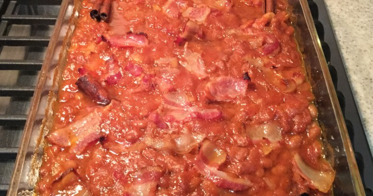 Super Bowl Baked Beans.   Seriously Delicious.