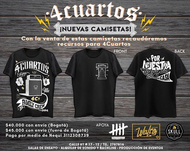 4 Cuartos lanzó camisetas