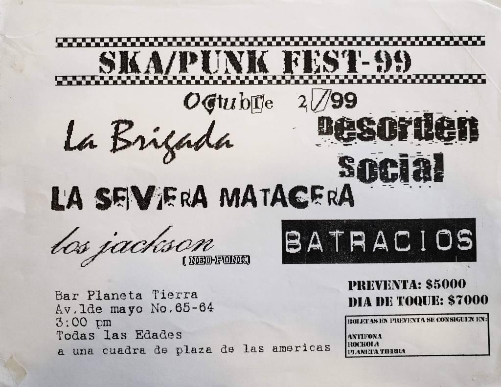 Festival de SKA en 1999 en Bogotá