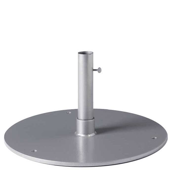 Steel Plate Base 20 Quot Round 1 5 Quot Pole Table Height