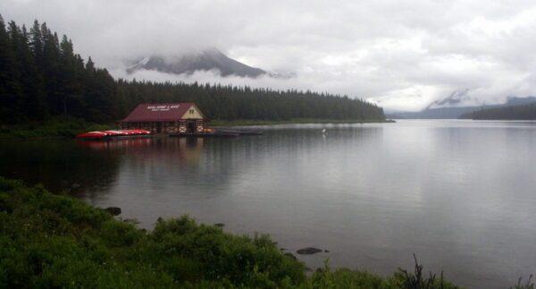 MALIGNE LAKE, P. NAC. DE LAS ROCOSAS. JASPER, CANADÁ.