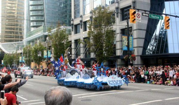 DESFILE DEL CANADA'S DAY. VANCOUVER. CANADÁ.