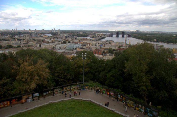VISTAS DESDE LA IGLESIA DE SAN ANDRÉS, KIEV