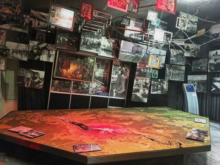 MAQUETA DE LA ZONA DE EXCLUSIÓN EN EL MUSEO DE CHERNOBYL EN KIEV