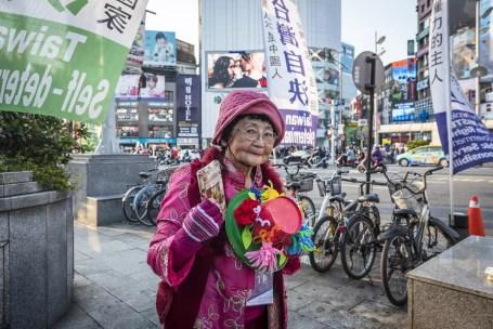 wat te doen in Taipei - protesteren tegen china in Ximending