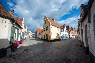 View of the Saint Anna neighbourhood in Bruges