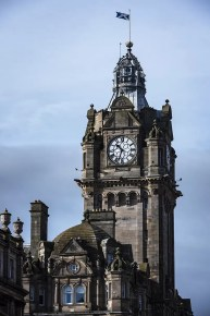 The Balmoral Hotel Clocktower in Edinburgh Scotland