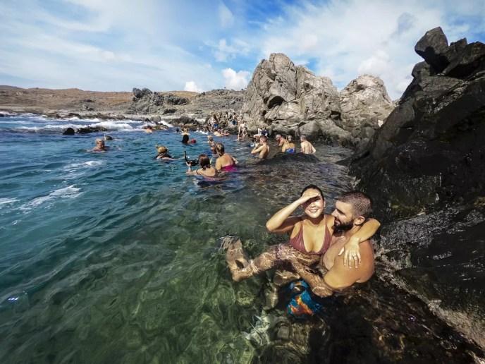 Koppel in de Conchi Natural Pool Aruba