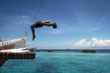 Sierlijke duik van de Montforte Luxury Cruise