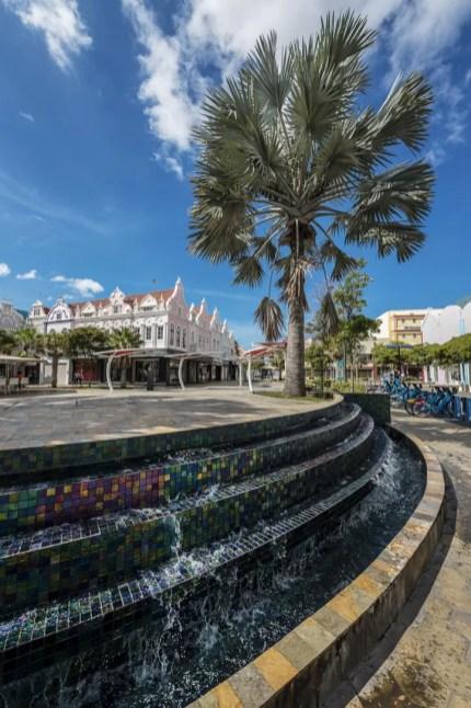 Fontein in Oranjestad Aruba