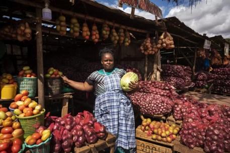 Marktkramer in Nairobi