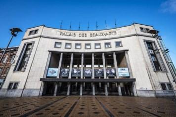 The facade of Palais des Beaux Arts Charleroi