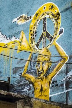 Gandhi Mural in Paharganj New Delhi