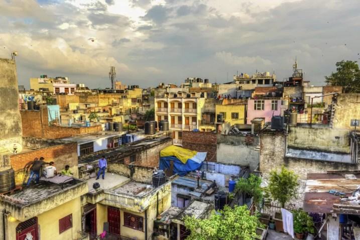 Wat te doen in New Delhi - Uitzicht vanop het Smyle Inn Hostel