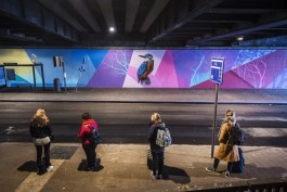 Street Art in Antwerpen - Tunnel Berchem Station by Smok