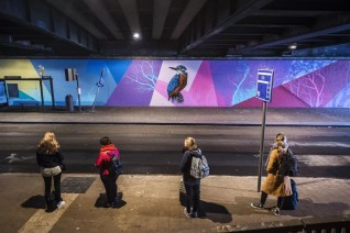 Street Art in Antwerpen - Tunnel Berchem Station by Smok
