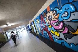 Street Art in Antwerpen - Welcome wall by Joachim