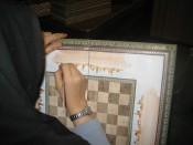 Schaakbord schilderen