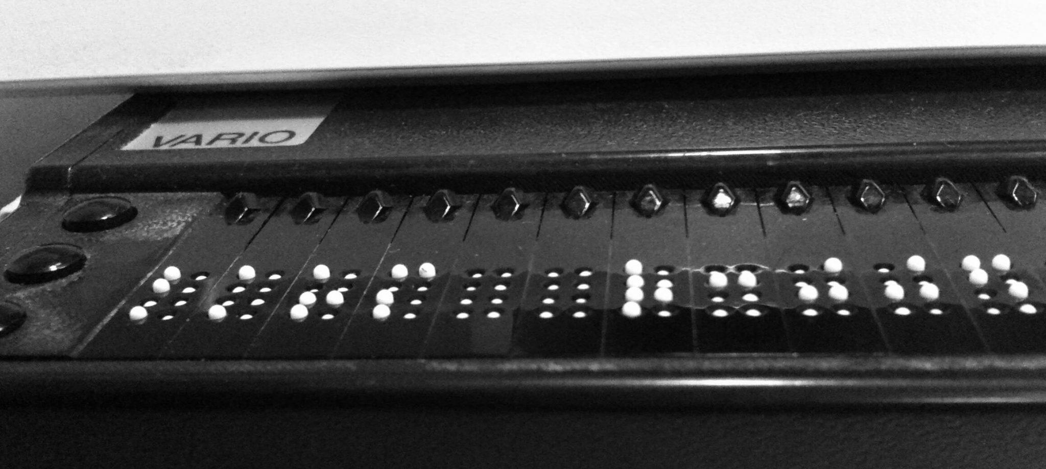 Eine Braillezeile von Vario