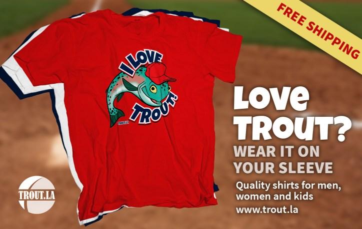 I Love Trout Shirt ad