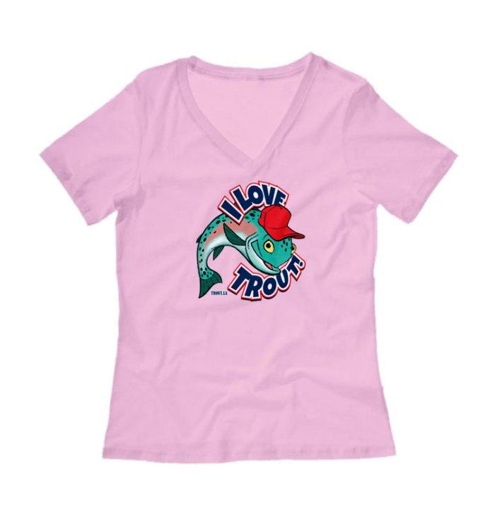 I Love Trout Womens Shirt
